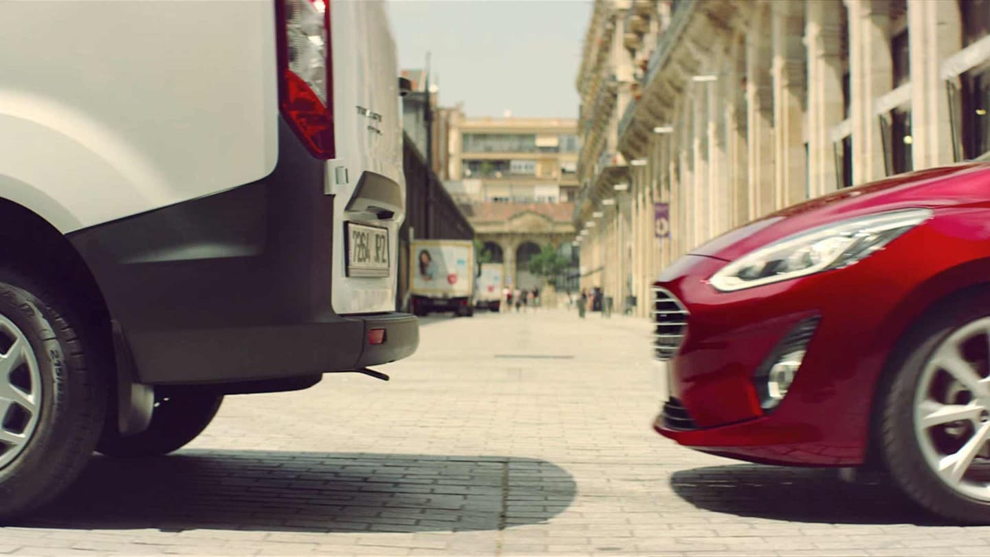 Ford Fiesta Van Pre-Collision Assist in action