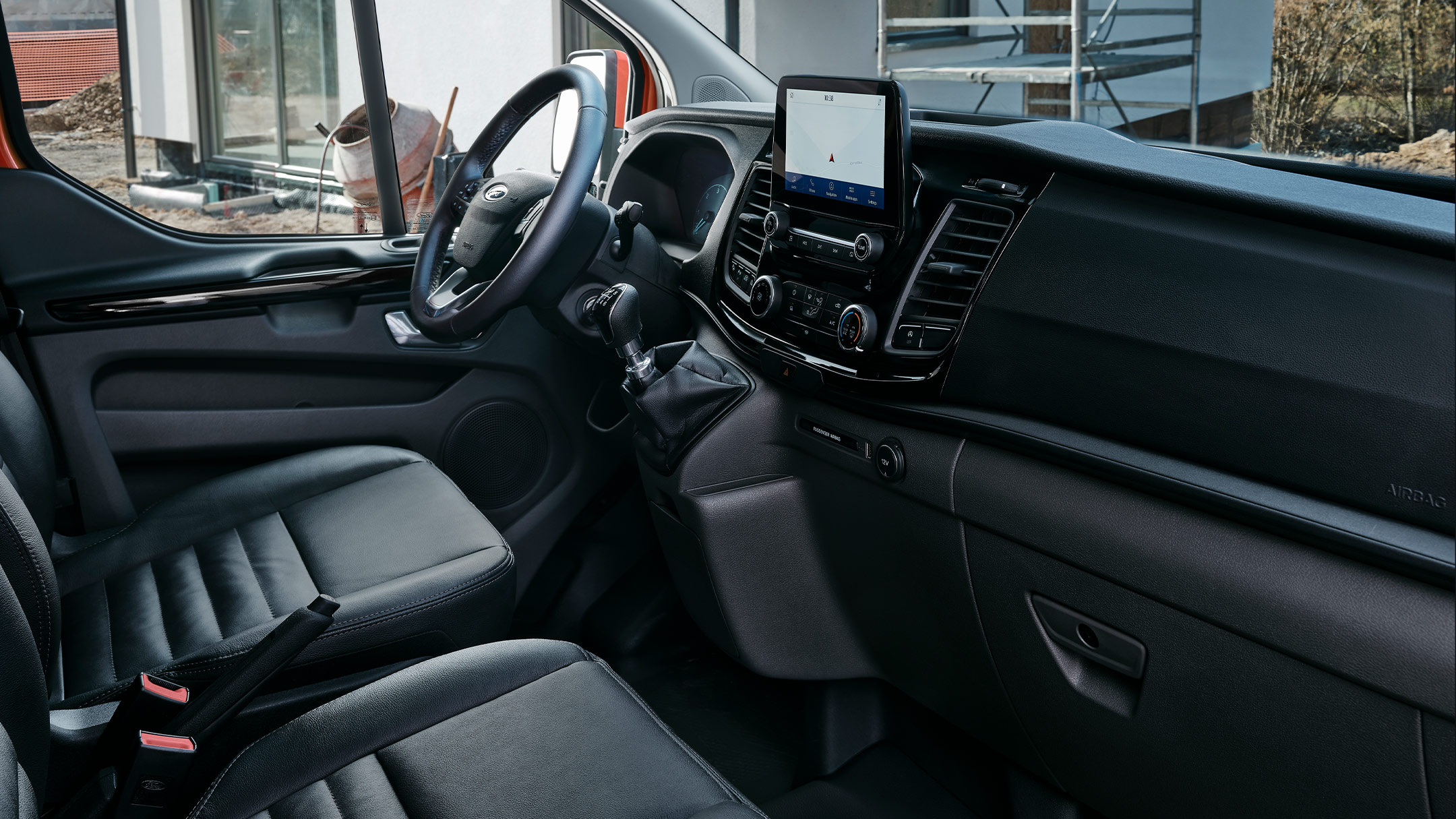 New Ford Transit Custom Trail Interior with dashboard and steering wheel