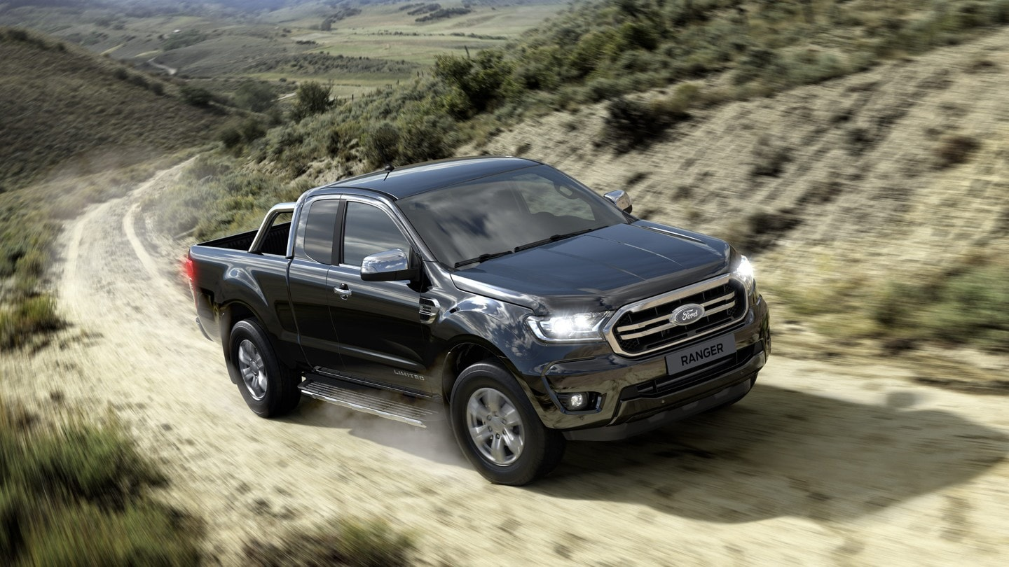Ford Ranger Super Cab driving off-road
