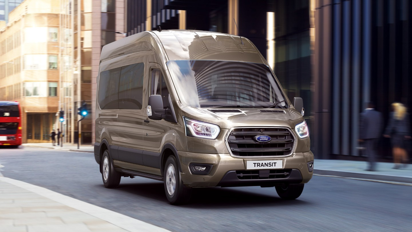 All New Ford Transit Minibus side view