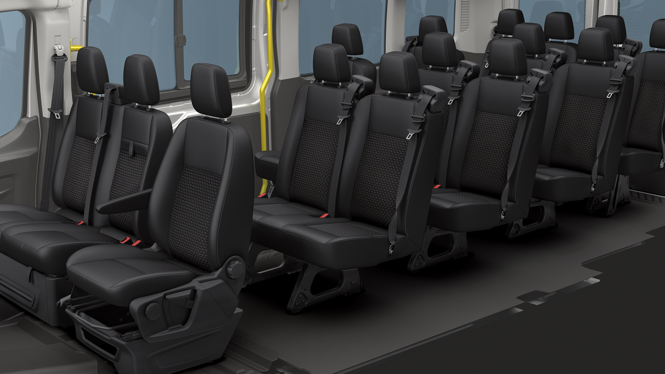 All New Ford Transit Minibus interior cabin view