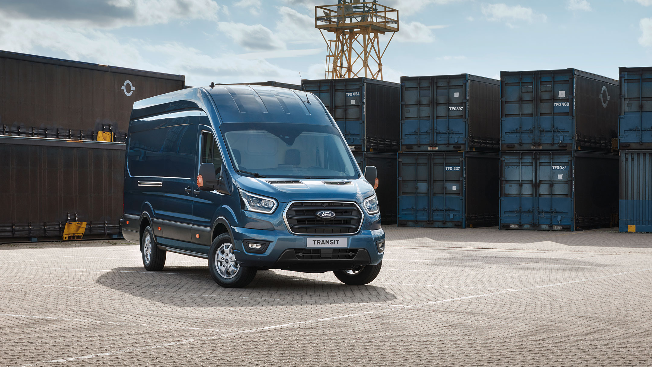 New Ford Transit Van exterior 360 video